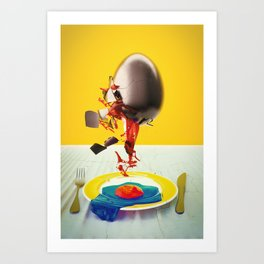 BREAKFAST. CRACKED. Art Print