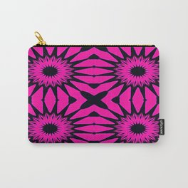 Pink & Black Flowers Carry-All Pouch