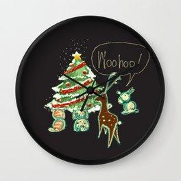 Woohoo Christmas! Wall Clock