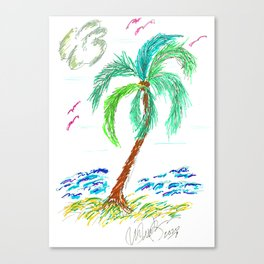 """Beach Afternoon"" Canvas Print"