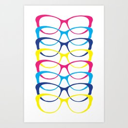 For the love of color and glasses Art Print