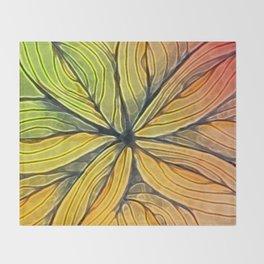 Doodled Aura-Leah Digitized Macro Throw Blanket