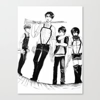 levi Canvas Prints featuring Squad Levi by PaigeAWArt