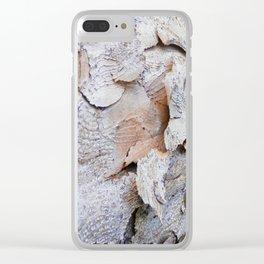 Tree Bark rustic decor Clear iPhone Case