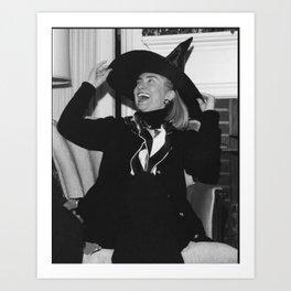 hill witch bw Art Print