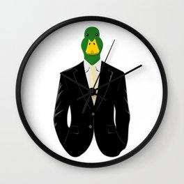 Duck in Suit Wall Clock