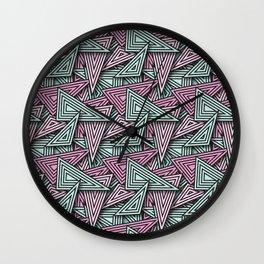 Ice Cream Triangle Funk Wall Clock
