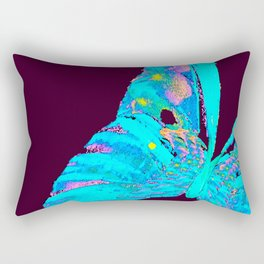 Turquoise Butterfly On A Dark Background #decor #buyart #society6 Rectangular Pillow