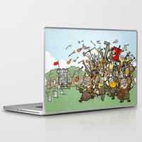 vikings Laptop & iPad Skins featuring Attack of the Vikings!  by brittonandbaer