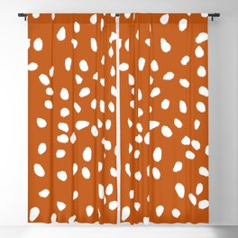 Tiny Leaf Pattern Rust Blackout Curtain