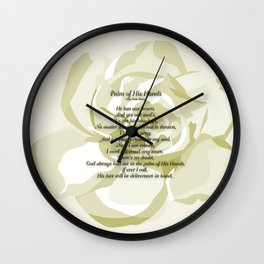 Palm of His Hands Wall Clock