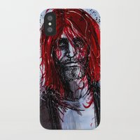 kurt cobain iPhone & iPod Cases featuring Kurt by Stewart Cook