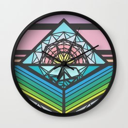 The Square of a Sunset Wall Clock