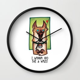 I wanna go for a walk ! Wall Clock