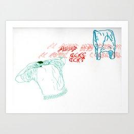 El rompeolas Art Print