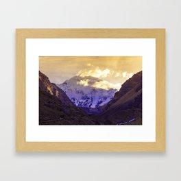 SUNRISE AT APU SALKANTAY Framed Art Print