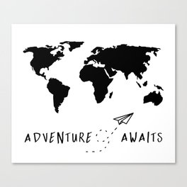 Adventure Map II Canvas Print