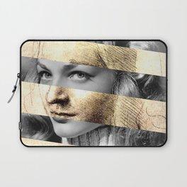 "Leonardo's ""Head of a Woman"" & Lauren Bacall Laptop Sleeve"