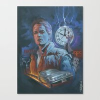 back to the future Canvas Prints featuring BACK TO THE FUTURE by Todd Spence