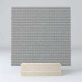 Gray Seigaiha Pattern Mini Art Print