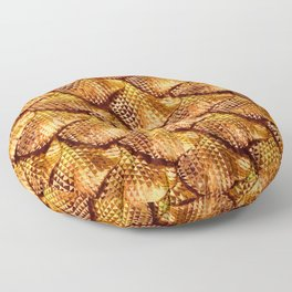 3d abstract snake skin, reptile scale Floor Pillow
