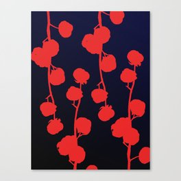 Cotton flower abstract Canvas Print
