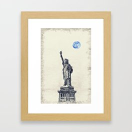 Lady of Libery and Freedom by Adam Asar 3 Framed Art Print