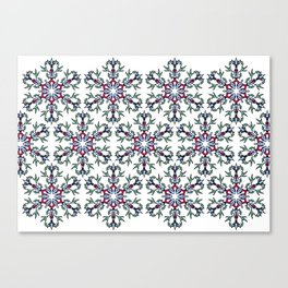 Medallion Traditional 1 repeating Canvas Print