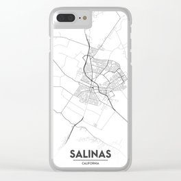 Minimal City Maps - Map Of Salinas, California, United States Clear iPhone Case