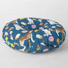 Husky siberian huskies junk food cute dog art sweet treat dogs pet portrait pattern Floor Pillow