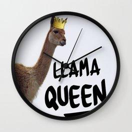 Llama Queen Wall Clock