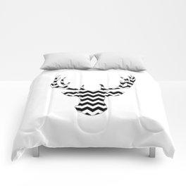 Zig Zag Modern Deer Head Comforters