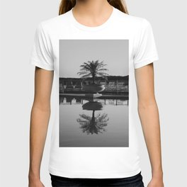 Tropical Reflection (Black and White) T-shirt