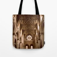england Tote Bags featuring Oxford, England by David Hohmann