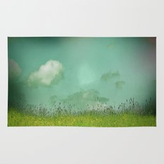 Daydreaming in the meadow - textured photography Rug