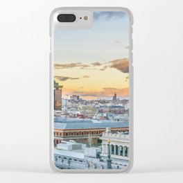 Aerial View Madrid Cityscape Clear iPhone Case