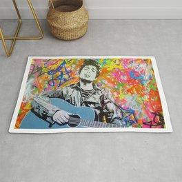 Rare Bob Dylan Lithograph Pop Art Concert Gig Poster Rug