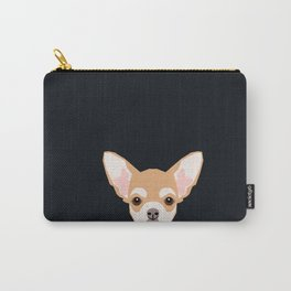 Misha - Chihuahua art print phone case gift for dog owner and dog people Carry-All Pouch