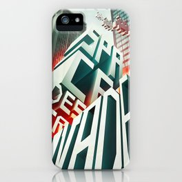 Invaders in the city iPhone Case