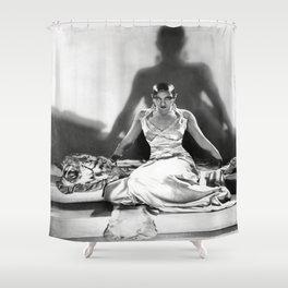 Black History- Josephine Baker on Tiger Rug 1925 - Photography - Black Art - Wall Decor Shower Curtain