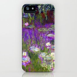 Water Lilies - Claude Monet (proton purple) iPhone Case