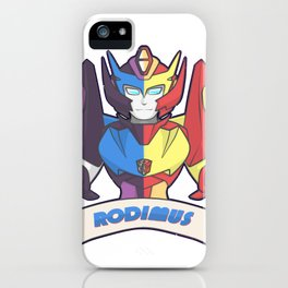 Rodimus red/blue iPhone Case