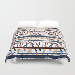 Stacked Lines Duvet Cover