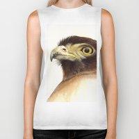 eagle Biker Tanks featuring eagle by Alessandra Razzi Illustrazioni