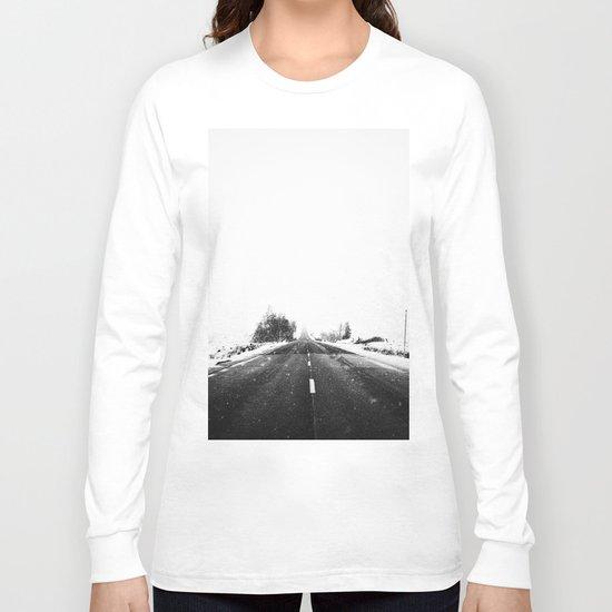 SNOW - WHITE - ROAD - WAY - TRIP - ADVENTURE Long Sleeve T-shirt