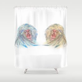 Macaco blues Shower Curtain