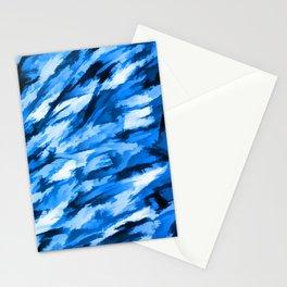 Blue Designer Camo Stationery Cards