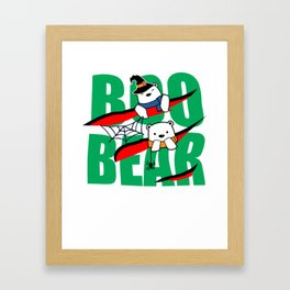 Boo Bear Cute Teddy Bear Polar Bear Halloween Couples Light Framed Art Print