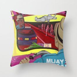 TUK TUK BANG COCK Throw Pillow