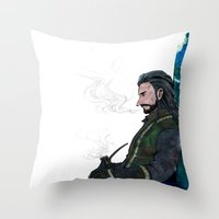 thorin Throw Pillows featuring Thorin by NON6